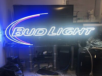"Bud Light Neon Sign XL NOS! 72""X 26"" Warehouse Find! Ultra Rare! Awesome!⚡️"