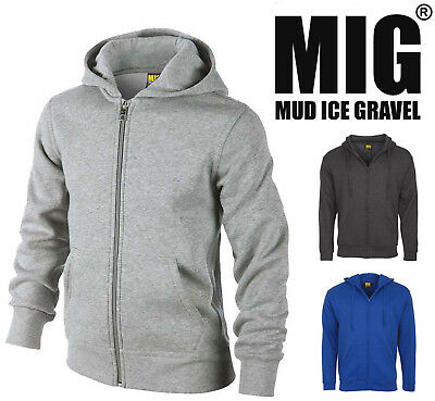 Mens Full Zip Hodded Sweatshirt Jacket Size S to 4XL - HOODIE JACKETS By MIG 918