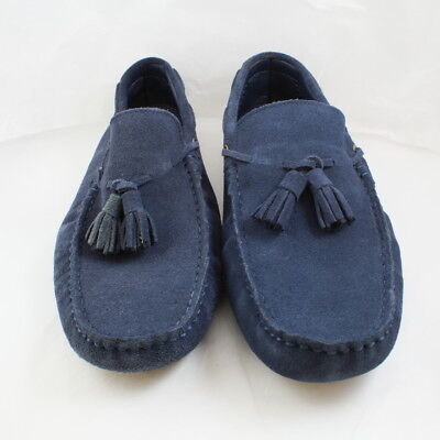 Mens Office Navy Blue Suede Slip On Casual Shoes Size UK 8 * Ex Display