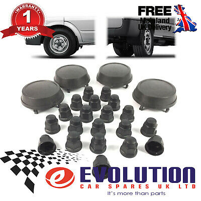 Ford Transit Mk6 Mk7 Wheel Centre Cap + Nut Covers 2000/14 (Set Of 24 Pcs)