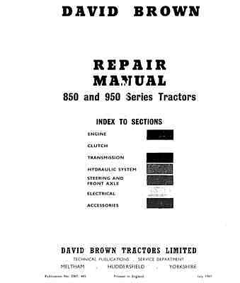 David Brown 850 880 950 990 Implematic Tractor Workshop Service Manual (0005)