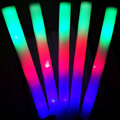 10Pcs Colorful Light Up Foam Stick LED Concert Party Decor Glowing Wands Deluxe