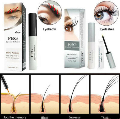 FEG Women's Eyelash Enhancer Eye Lash Rapid Growth Serum Liquid Natural 3ML