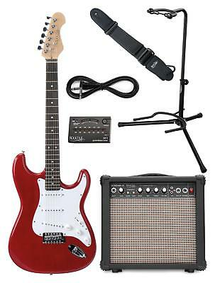 Pack Guitare Electrique Amplificateur 15W Ampli Support Sangle Cables Accordeur