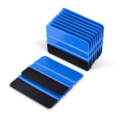 3/5/10/50Pcs Vinyl Squeegee w/ Fabric Felt for Auto Decals Stickers Wrapping Kit
