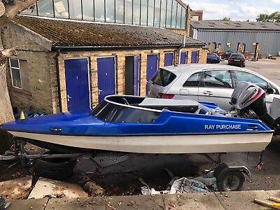 Marina 13 GT Speed Boat 13ft with Trailer and 20HP Mariner 4Stroke Engine LONDON