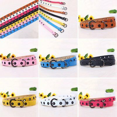 Candy Colors Baby Kids Boys Girls Fasgion Adjustable PU Leather Belt Waistband