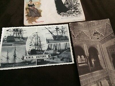 Postcards-An Eclectic group of Three Vintage Picture Postcards