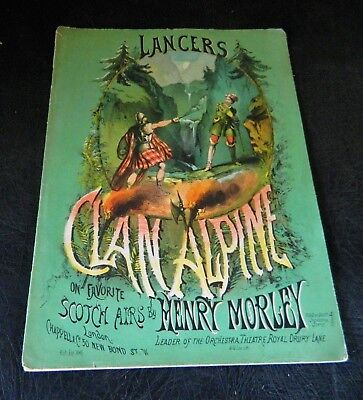 Rare The Clan Alpine Lancers On Scotch Airs Illustrated Sheet Music