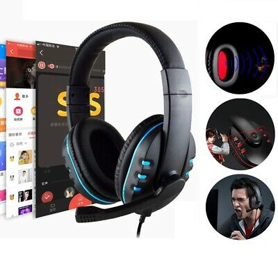 Stereo Bass Surround Gaming Headset Headphone For PS4 New Xbox One PC with Mic A