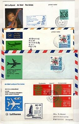 A83760/ 7 Commemoratives Covers First Flights From Hong Kong