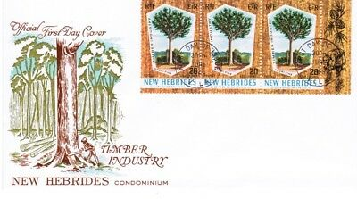 New Hebrides British SG135 Timber Industry 1969 FDC