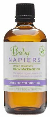 TWO PACKS of Napiers Baby Magic Moments Massage Oil 100ml