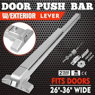 Door Push Bar Panic Exit Device Silver Stainless Steel Safety Heavy Duty Usa Oy