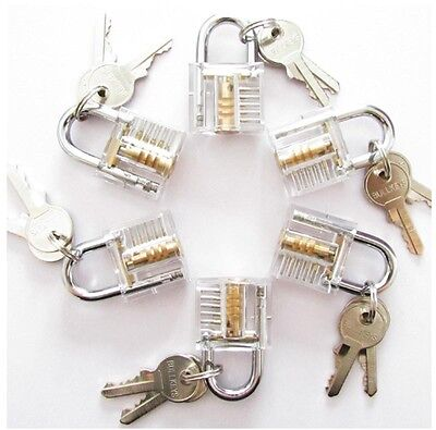 Cutaway Inside View Of Practice Padlock Lock Training Skill Pick For Locksmith