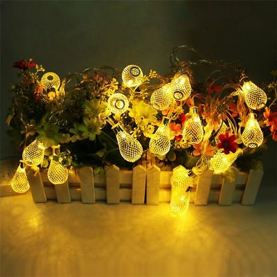 Metal Drop String Style Christmas Light Durable Decoration Modes Outdoor Design