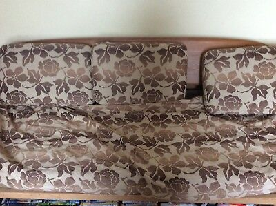 Ercol Studio Couch Covers Brown Flower Pattern