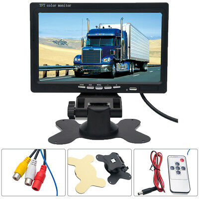 "7"" TFT LCD Car Rear View Screen Monitor For Reversing Camera / DVD VCD(12V-24V)"