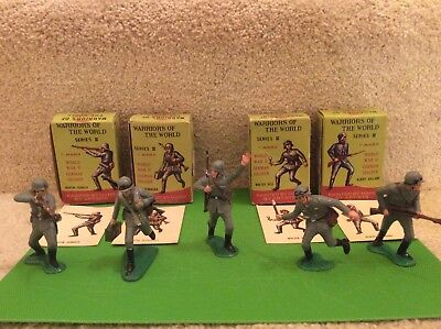 Marx Warriors of the World WWII German Soldiers Lot of 7