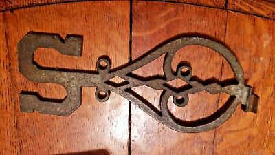 "Vintage Cast Iron Weathervane Directional ""south Letter"""
