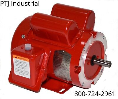 1 hp electric motor  56 or 56c frame 1725 rpm 115/230 1 phase 110088 replacement