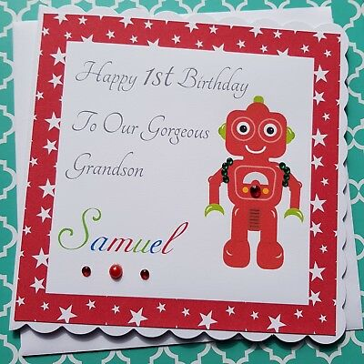 PERSONALISED HAPPY BIRTHDAY Grandson Son Nephew Brother 1st 2nd 3rd 4th