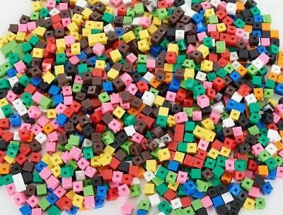 250 x 1cm Cubes - Counting Interlocking Snap Building Maths Home Early Learning