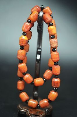Exquisite China Hand Engraving Old Jade Pray Buddhism Necklace