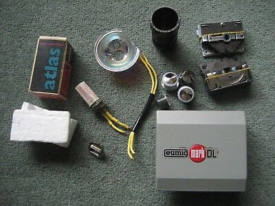 Eumig Projector Mark DL 8MM Spares with New A1/45 12v 100w Atlas Lamp