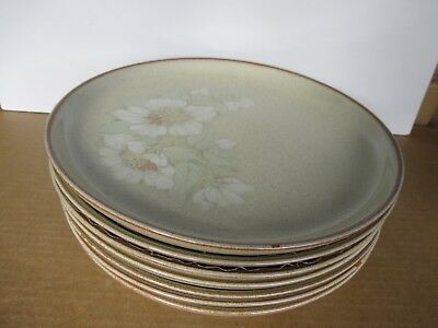 "Denby Daybreak 7 x Dinner plates 10"" Diameter Second Quality Used Condition"