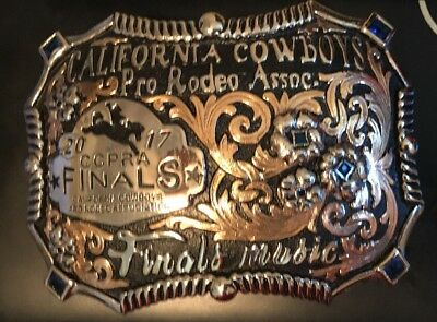 Trophy Rodeo Champion Belt Buckle Horse Rider Riding Music Director