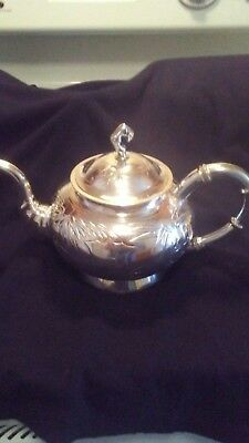Yok Sang Sterling Silver Teapot and Sugar