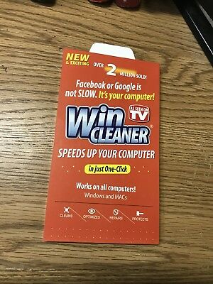 Win Cleaner As Seen on TV 1 click Clean Repair Protect Works with Windows PC Mac