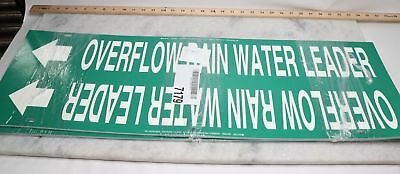 "Lot of 12 Pipe Marker, Overflow Rain Water Leader, 10"" X 32"""
