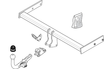 P24 Estate Fixed Swan Neck Towbar with Electric Kit 13Pin VOLVO V70 2007