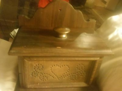 Vintage pfaltzgraff wooden recipe box