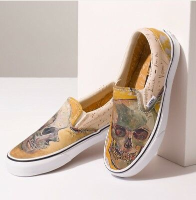 NIB Vans Limited VAN GOGH Skull True White Slip On - Last Ones!