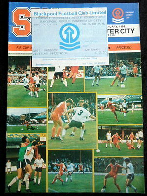 Blackpool  v Manchester City  FA Cup 3rd  Round     7-1-1984    & ticket