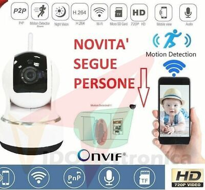 Telecamera Ip Cam Camera Hd 720P Wireless Led Ir Motorizzata Wifi Rete P2P Onvif