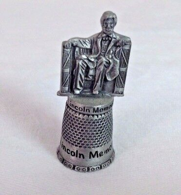 Thimble Pewter Lincoln Memorial Abe Lincoln