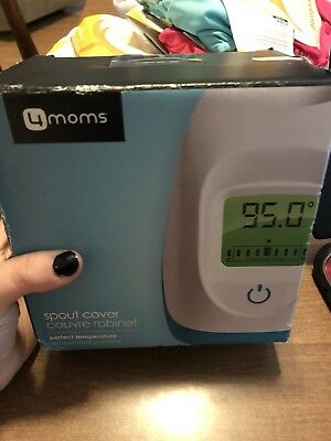 NEW - 4Moms Spout Cover Built in Thermometer with Coded Display - White