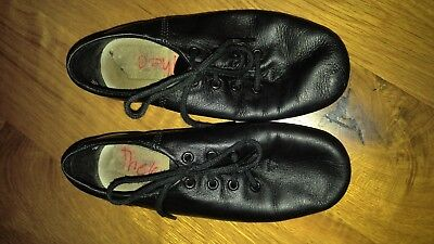 jazz dance shoes 12 boys girls black leather
