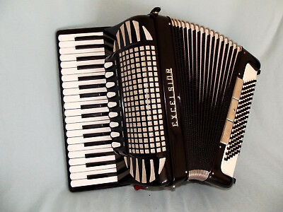 Italienisches Akkordeon EXCELSIOR 96 Bass Model 304B acordeao accordian 4 chörig
