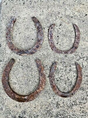 Four Ancient Horse Shoes Over 50 Years Age - For Restoration Collectors Items