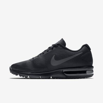 Nike Air Max Sequent Running Trainer Shoe Mens Size 8.5 - 11 Black Night Factor