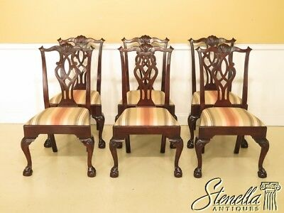 45751EC: Set Of 6 STICKLEY Mahogany Clawfoot Dining Chairs