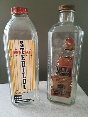 Sterilol Arterial Embalming Fluid Bottle Undertaker Supply DODGE vintage funeral