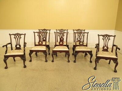 L29661EC: Set Of 8 STICKLEY Claw Foot Mahogany Dining Room Chairs
