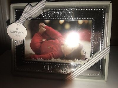 Carter's Baby's First Christmas Silver 4X6 picture Frame