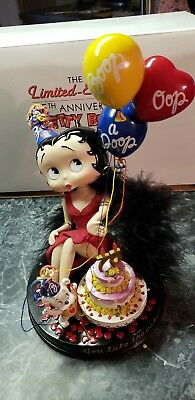 ~75th ANNIVERSARY~ BETTY BOOP~COLLECTOR DOLL~W/ BOX~LIMITED EDITION~DANBURY MINT